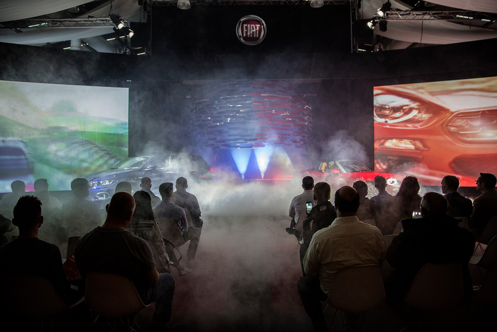 A large launch party for Fiat