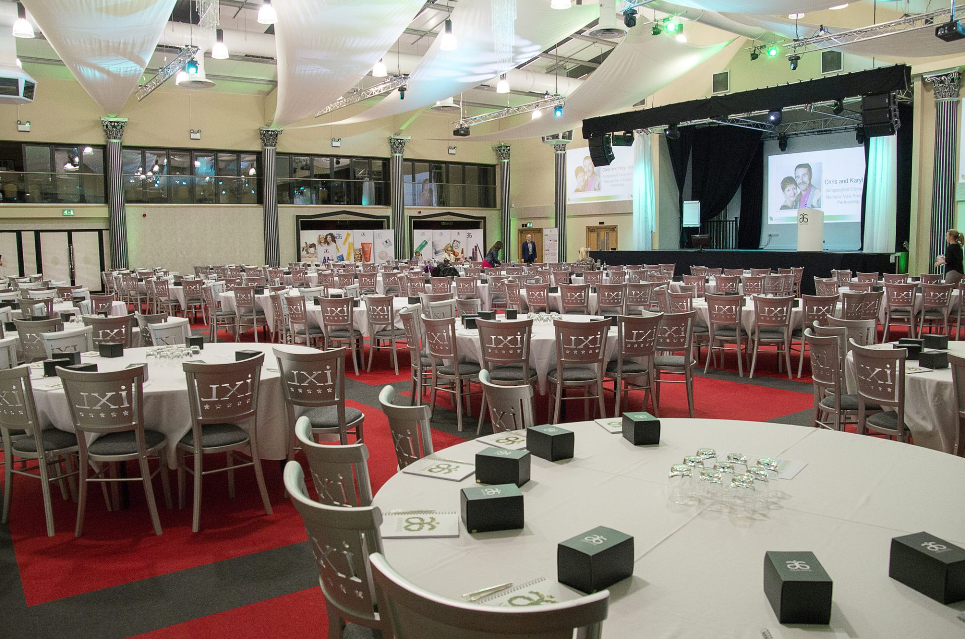 Conference room showing stage ideal for your first corporate event