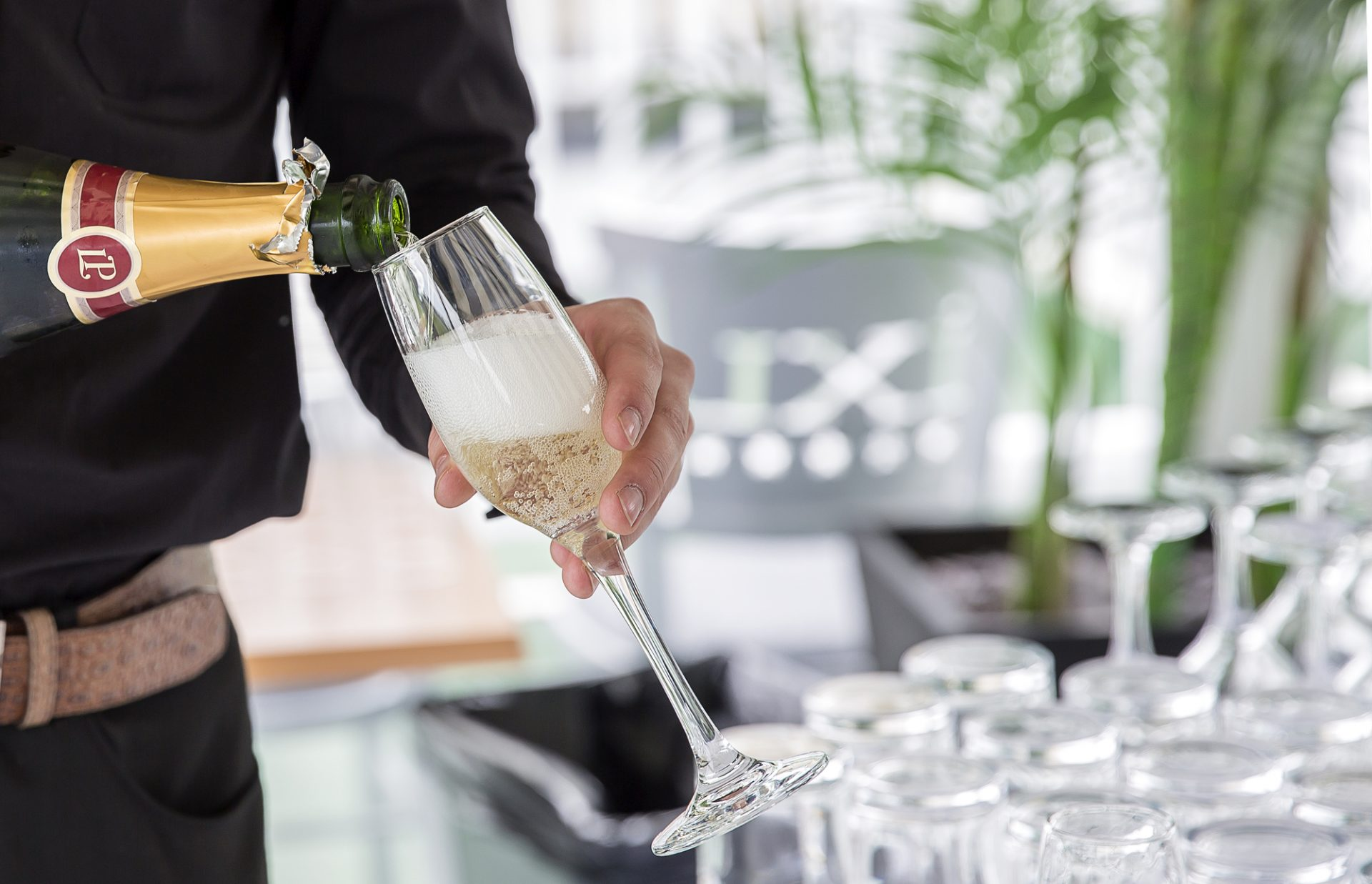 Pouring champagne at the DBPC Opening Season Party 2018