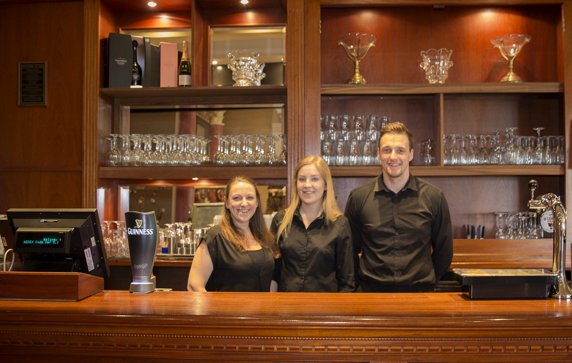 Old English Pubs -friendly staff at the Millstone Hare