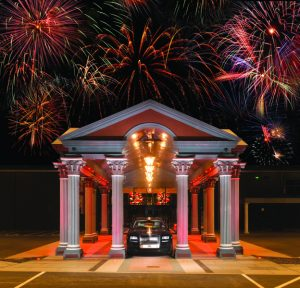 Charity Bonfire Night - Rolls Royce in the IXL Centre with fireworks