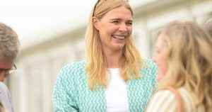 Jodie Kidd at the fine and country gold cup