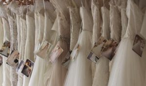 collection of wedding dresses