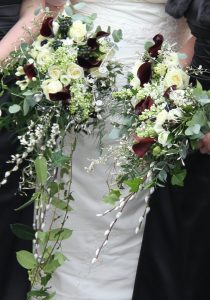 Pussy willow wedding bouquet