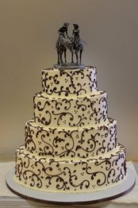 Horse theme wedding cakes