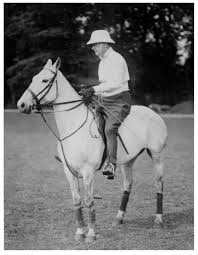 Winston Churchill on a polo pony