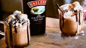 christmas tipple Baileys hot chocolate