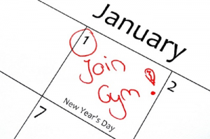 New Year's Resolution join gym
