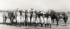 Walt Disney in his polo team