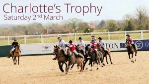 Polo players in action at The Charlotte's Trophy