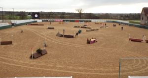 The Super Arena ready for Super Pink Arena Eventing 2019