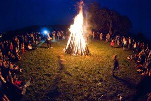 Mid Summer Night Bonfire
