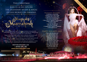 Christmas party time 2019 - Magical Marrakesh Poster