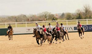 banner advertising - Polo action shot with banners in background