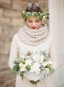 winter weddings - winter bride