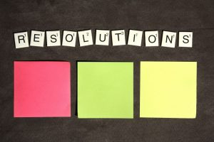 Keep New Year Resolutions - image with the word resolutions
