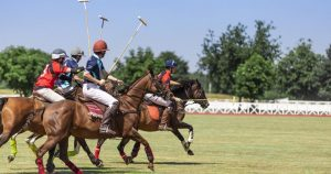 The Charlotte Trophy 2020 Polo game in full swing