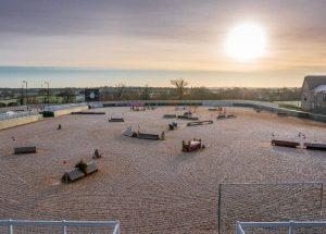 Schools Equestrian Games 2020 show jumping course at Dallas Burston Polo Club